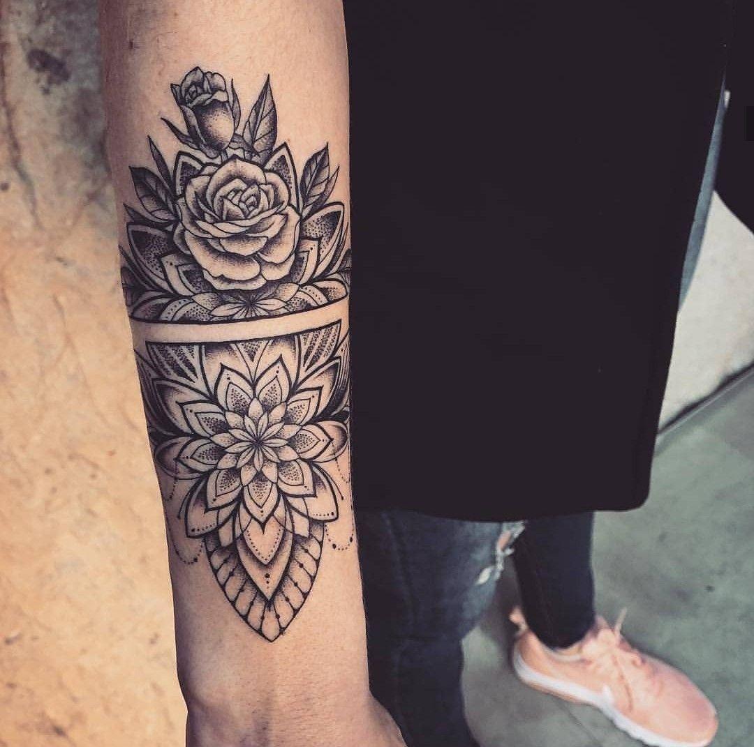Mandala Flower Armband Tattoos Tattoos Mandala Tattoo Arm Band