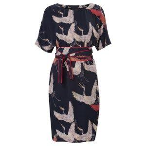 Kimono jurk met ceintuur Blauw   kleding Jurken, Modieuze