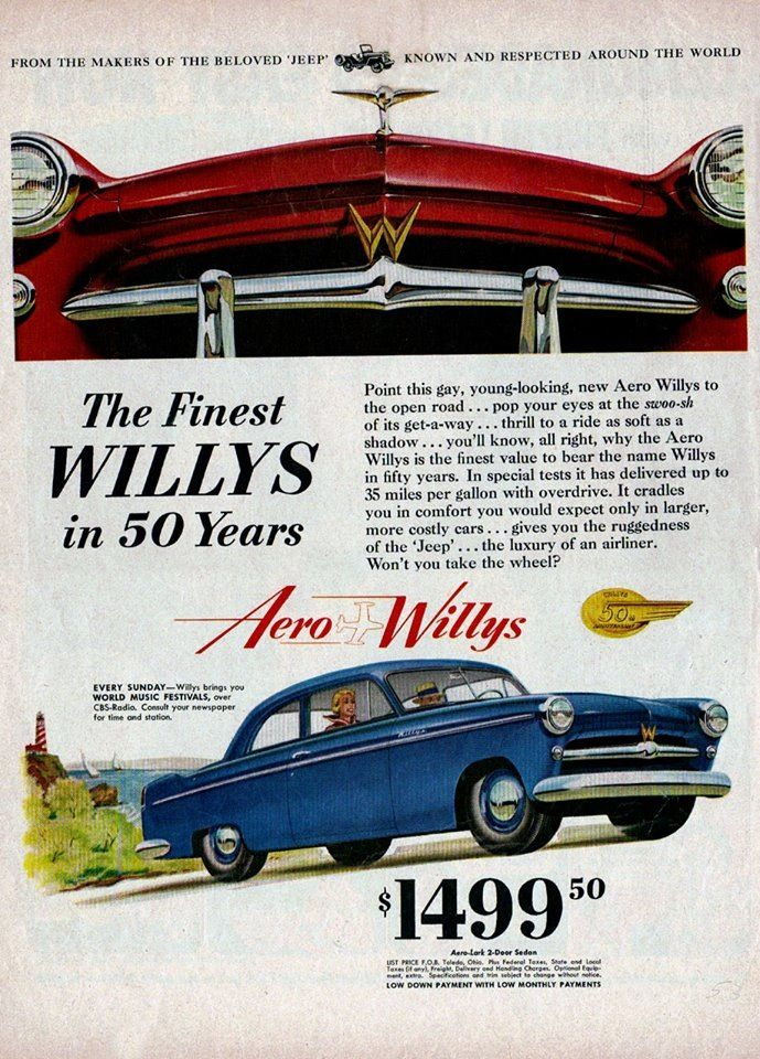 Willys | Vintage auto ads | Pinterest | Jeeps