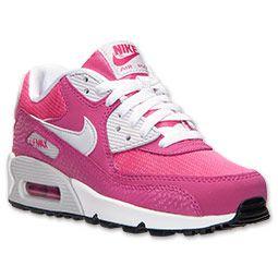 Girls' Grade School Nike Air Max 90 Running Shoes | FinishLine.com | Vivid