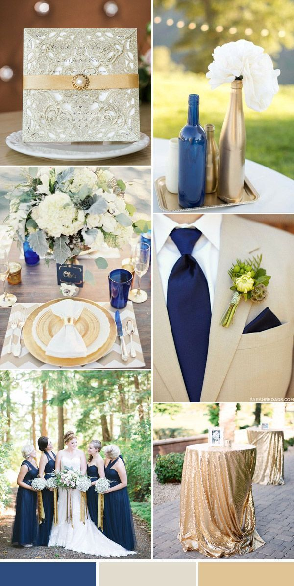 ideas for country wedding invitations%0A elegant traditional navy and gold country wedding colors