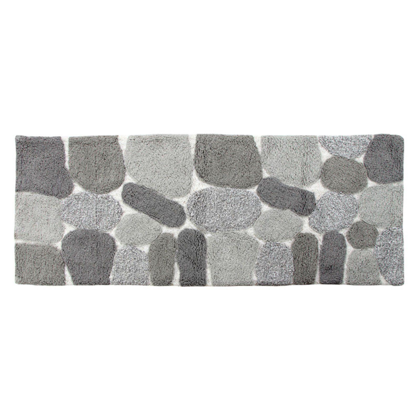 Chesapeake Pebbles Bath Rug Runner Grey