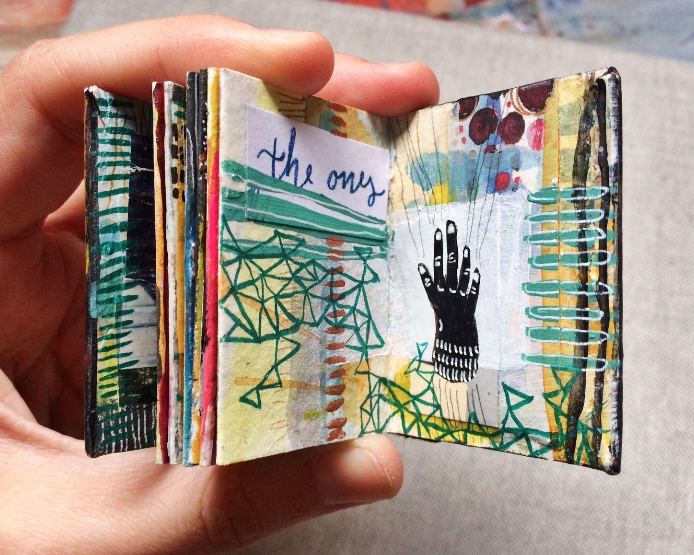 Mini Journal 9 By Bun Mini Art Journal Mini Journal Book Art