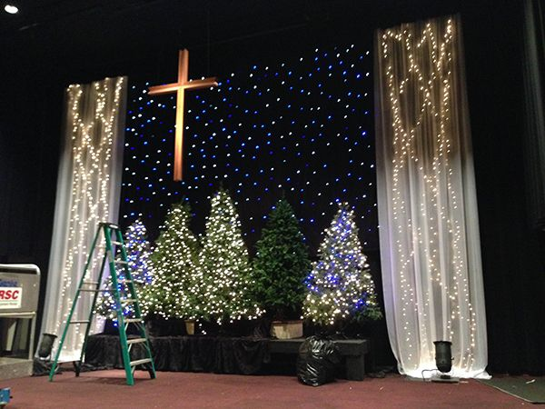 Angela Yee Christmas Stage Design Church Christmas Decorating