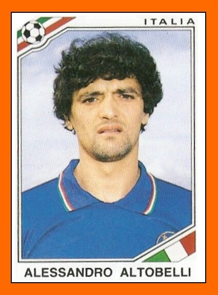 Alessandro Altobelli of Italy. 1986 World Cup Finals card.