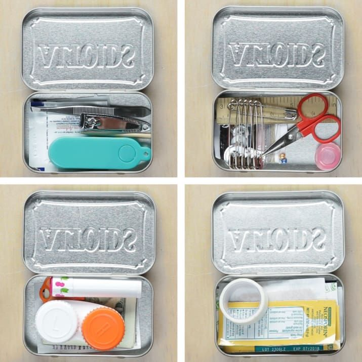 Repurpose Empty Mint Tins Into These 4 DIY Travel Kits is part of diy - Be prepared on every trip!