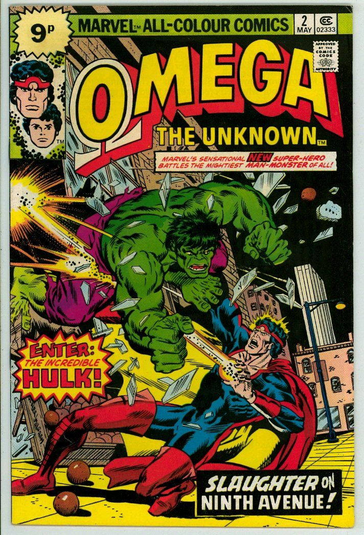 Omega The Unknown 2 Fn 6 0 Pence Comics Marvel Comic Books