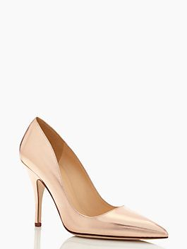78d7063a93 Kate Spade Licorice Heel $328 ROSE GOLD | Accessories | Shoes, Rose ...