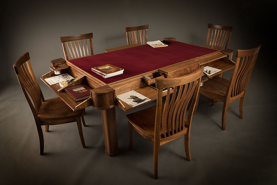 Love This Convertible Dining Room To Gaming Table! Beautiful! Pinning This  So I Can Make One In The Future....the Distant Future. :/