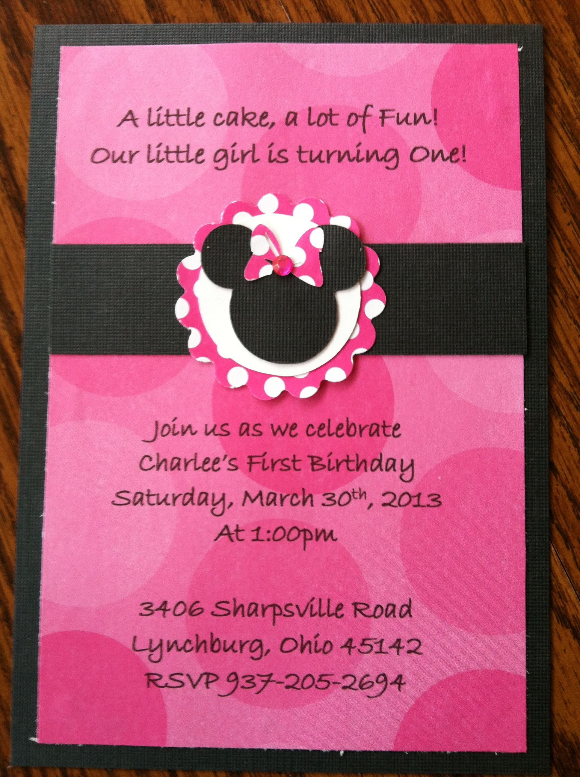 Minnie mouse birthday invitation party time pinterest minnie mouse birthday invitation solutioingenieria Choice Image