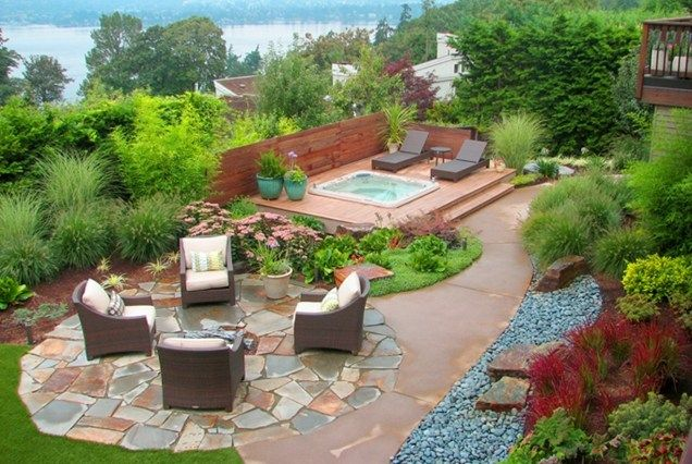 49 landscaping ideas with stone backyard design ideas for hot