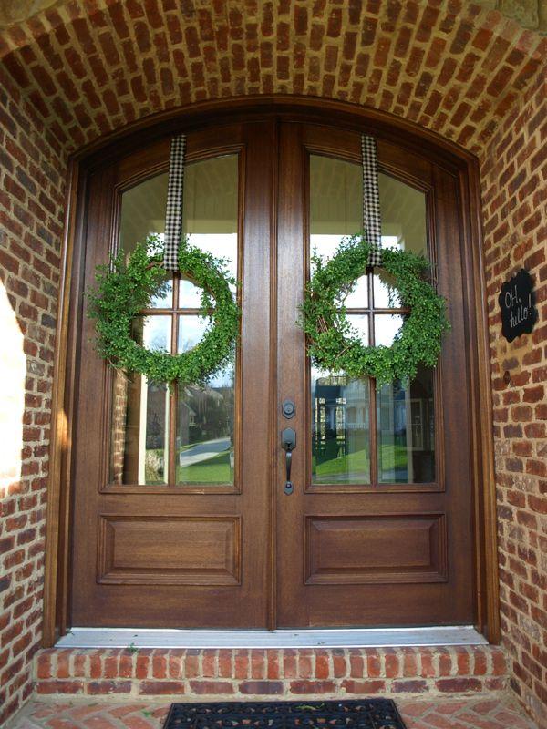 My Favorite Green Wreaths Double Door Wreaths Green Wreath