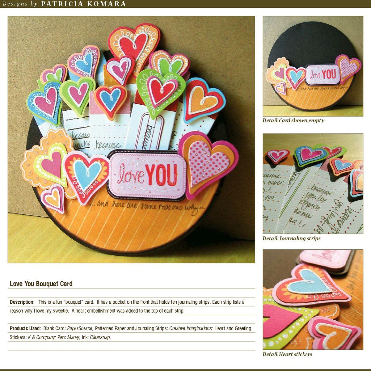 Love you Bouquet Card - Scrapbook.com