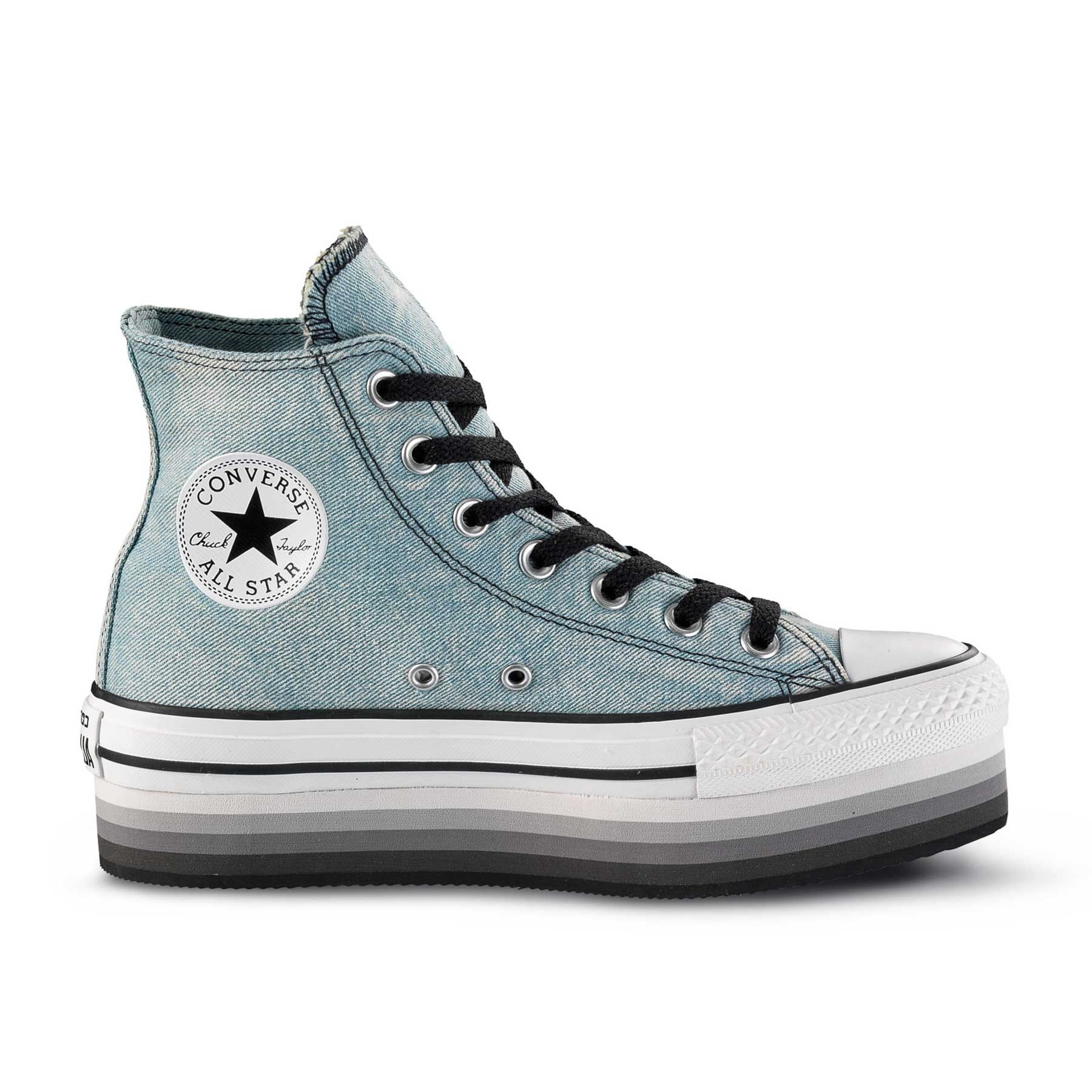 CONVERSE ALL STAR HI PLATFORM denim Sneaker Scarpe