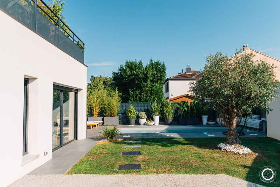 Un Jardin Moderne Et Exotique Jardin Moderne Villa