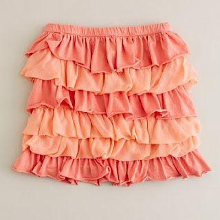 layered jersey skirt tutorial