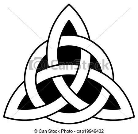 Vector - celta, trinidad, nudo, (Triquetra) - stock de ilustracion ...