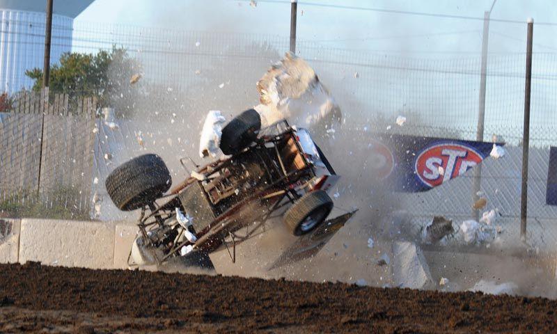 Kerry Madsen Fremont WoO Crash National Speed Sport News