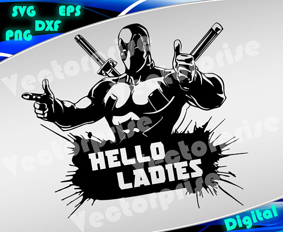 Deadpool svg Clipart Superheroes svg Dead Pool silhouette