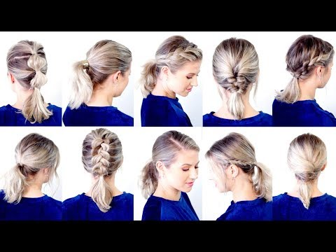 2 10 Cute Easy Low Ponytail Hairstyles Milabu Youtube In 2020 Ponytail Hairstyles Easy Low Ponytail Hairstyles Short Hair Ponytail