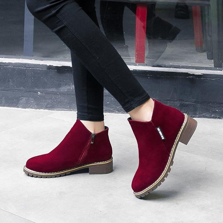 NEW Women Martin Boots Autumn Winter Boots Classic Zipper Snow Ankle Boots Winter Suede Warm  NEW Women Martin Boots Autumn Winter Boots Classic Zipper Snow Ankle Boots W...