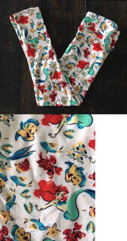 78aa1c39b812c1 Leggings 152719: Lularoe Disney Ariel Kids S M Unicorn Leggings Flounder  Sebastian -> BUY IT NOW ONLY: $55 on eBay!