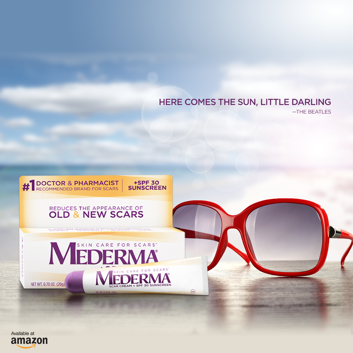 Here Comes The Sun Mederma Scar Cream Plus Spf 30 Can Help Protect Your Skin From Sunburn While Making Your Scar L Mederma Scar Cream Scar Cream Mederma Scar