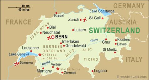 Languages Map of Switzerland Switzerland Pinterest Switzerland