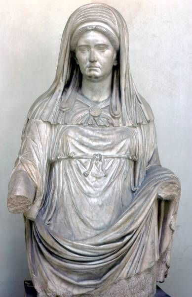 Statue Of A Vestal Maxima, Greek Marble (Image 2639) Location: Italy: Rome.