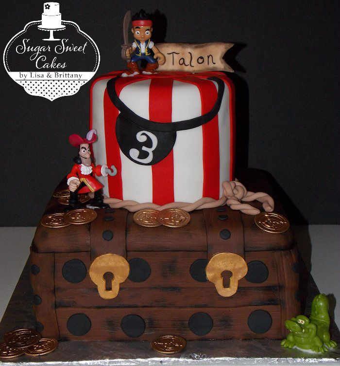 Prime Your Little Boy Will Love This Jake And The Neverland Pirate Cake Personalised Birthday Cards Arneslily Jamesorg