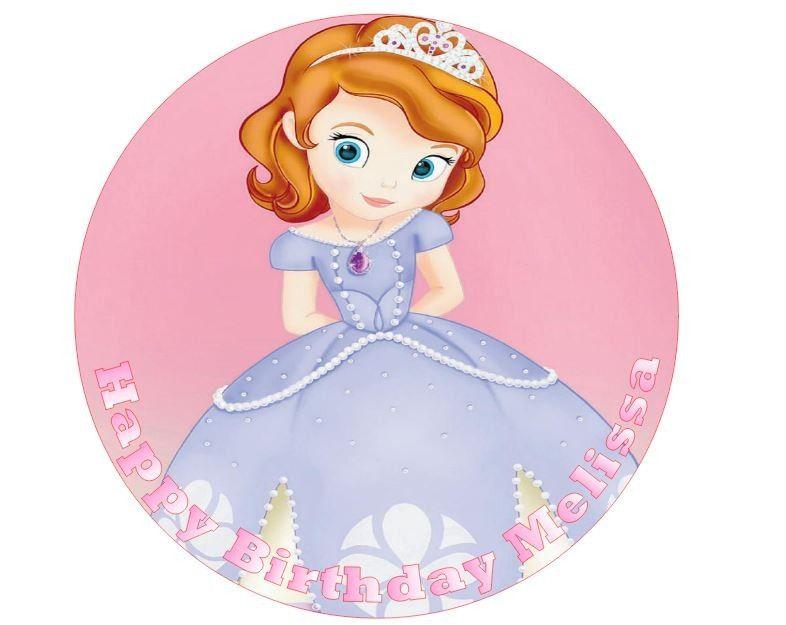 personalised 7 5 edible pre cut princess sofia birthday
