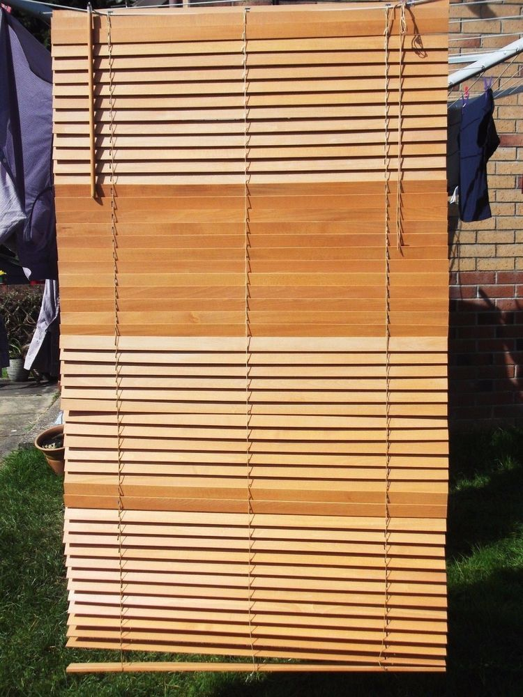 Ikea Oak Wood Venetian Blind 100cm Wide Approx