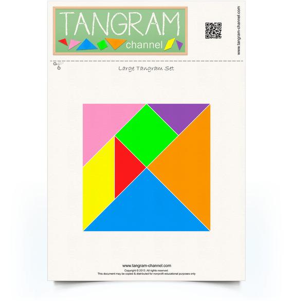 one set of tangram pieces  free printable tangram puzzle