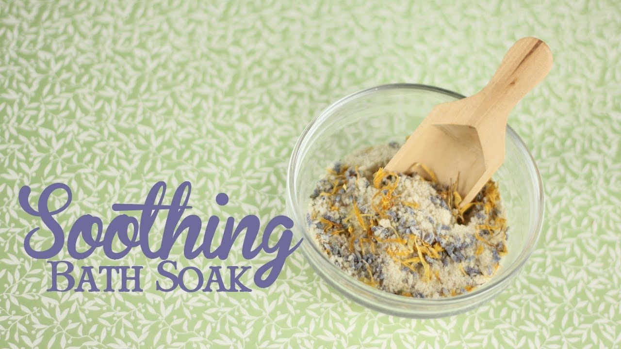 Soothing Bath Soak with Oat and Lavender.... super simple recipe!!