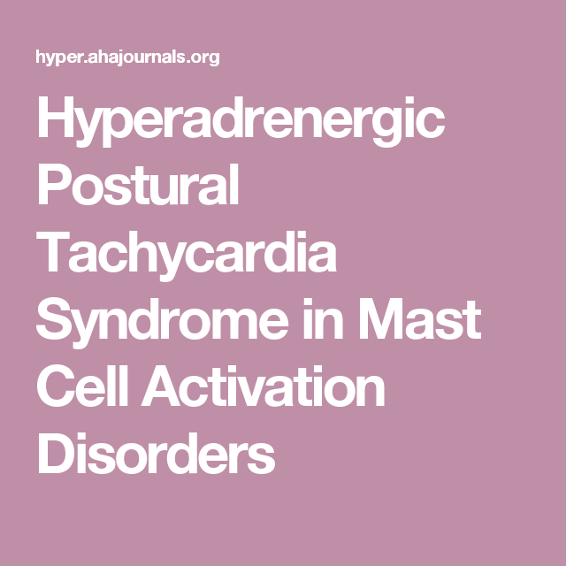 postural tachycardia syndrome in mast cell activation disorders