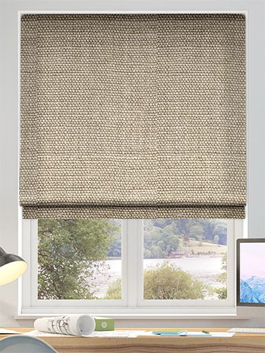 Linen Hopsack Roman Blind With Images Blinds Design