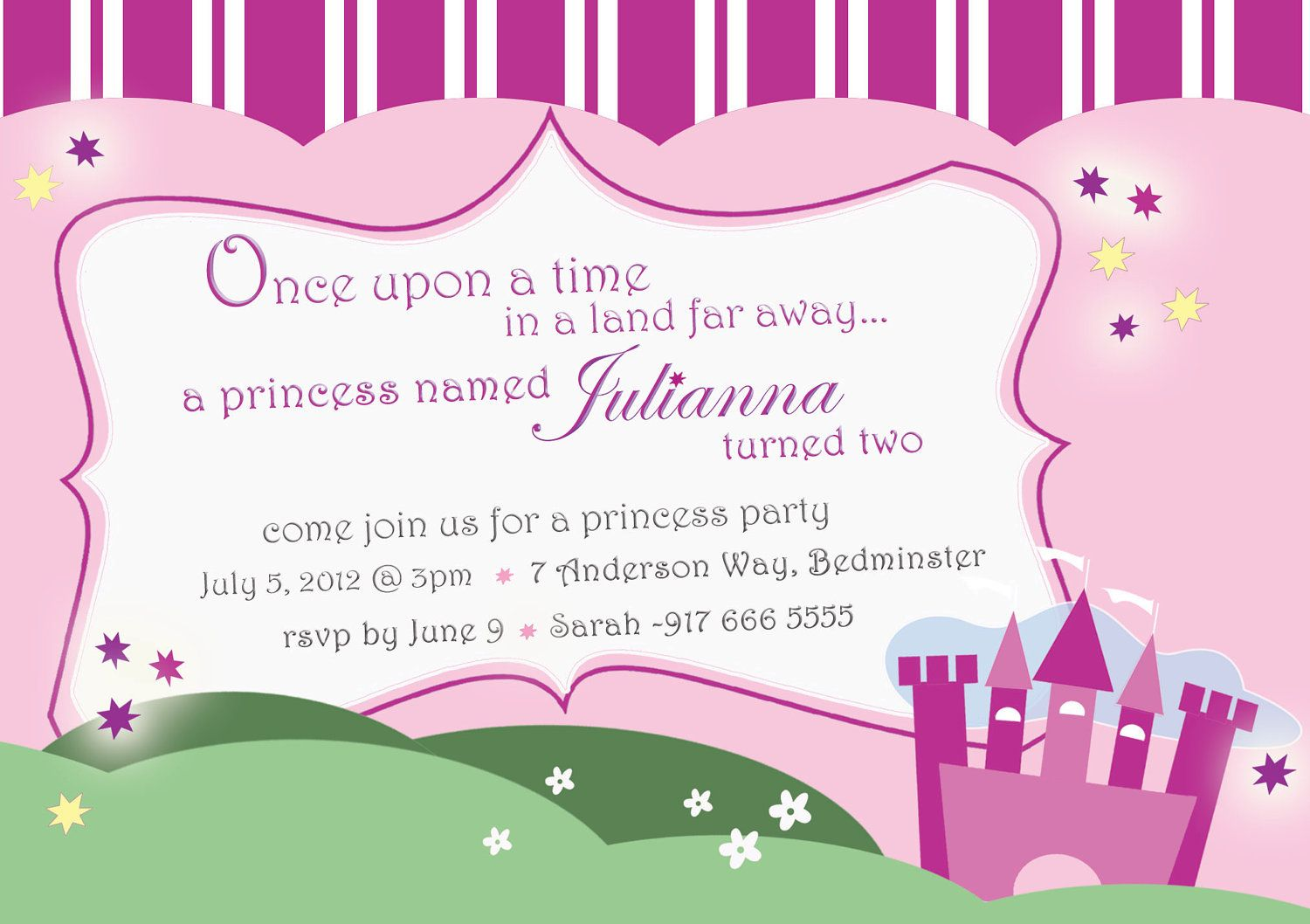 How to Create Princess Party Invitations Modern Designs ...