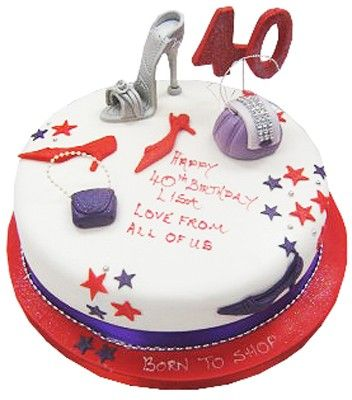 40th birthday Shoe and handbags cake Handbag Cakes Pinterest
