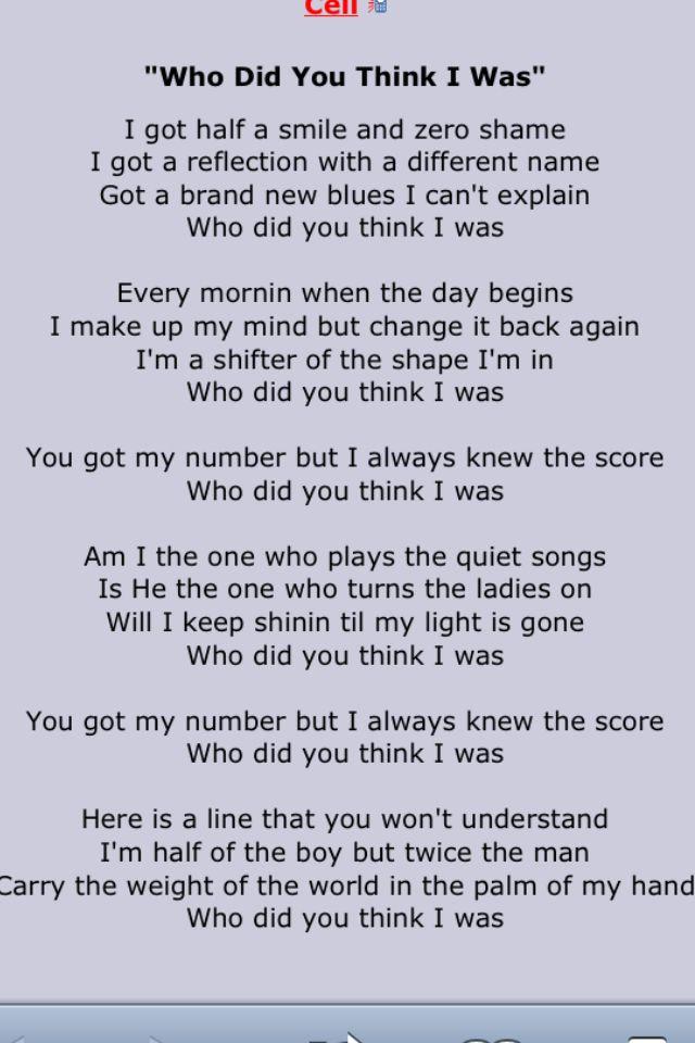 Lyric brand new you won t know lyrics : Who did you think I was. | John mayer | Pinterest