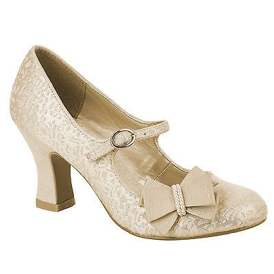 #Ladies ruby shoo #celia #1920s 1930s vintage inspired gold retro wedding shoes,  View more on the LINK: http://www.zeppy.io/product/gb/2/371552314078/