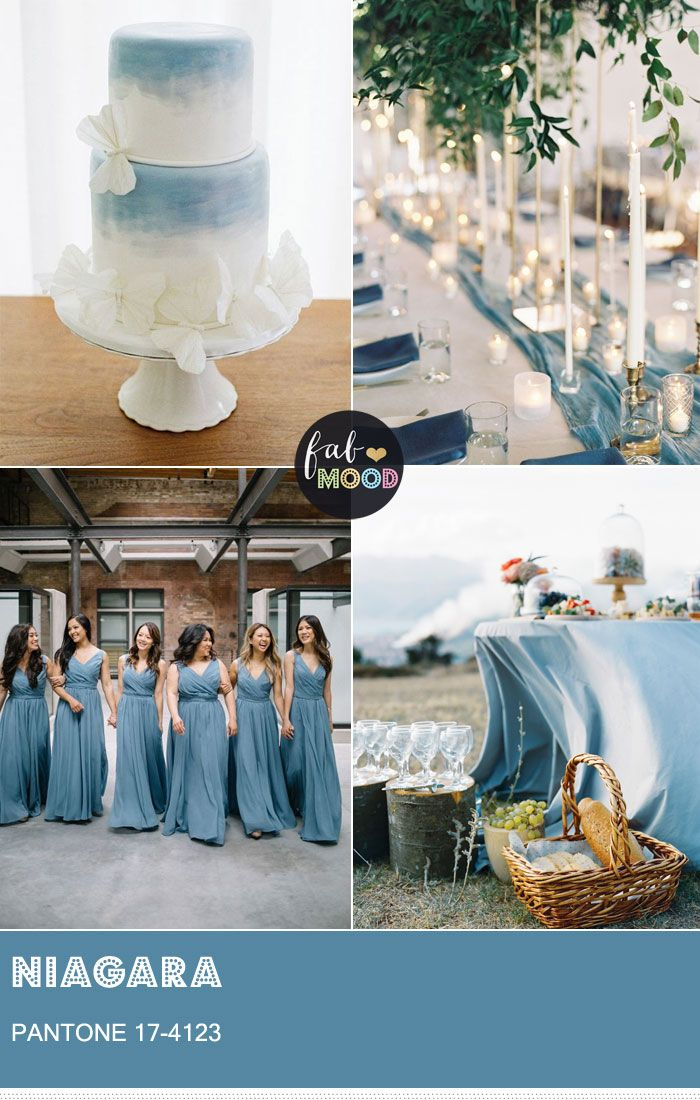 fb236f38995 how to combine Pantone Niagara Spring 2017 the first top Pantone Spring  2017 into your wedding colour theme