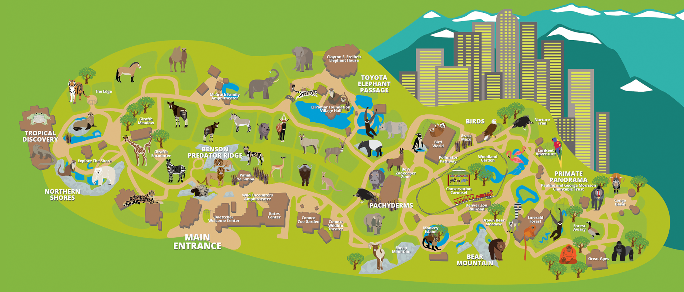 Denver Zoo Map Denver Zoo Family pass | LIAM'S WISH LIST ;) | Denver zoo, Zoo map