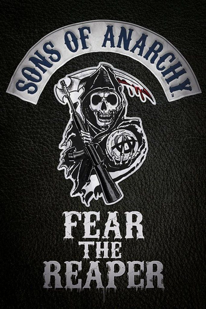 sons of anarchy fear the reaper official poster official rh pinterest com Sons of Anarchy Patches Sons of Anarchy Logo Drawings