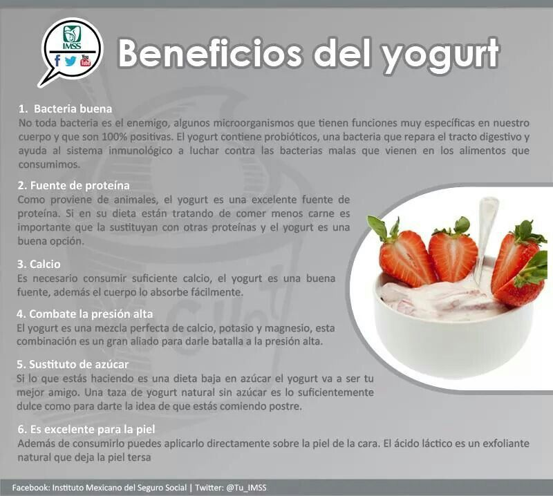 beneficios del yogurt natural para la salud