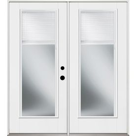 Benchmark By Therma Tru 70 5625 In X 79 5 In Blinds Between The Glass Left Hand Inswing Fiberglass French P French Doors Patio Patio Doors Glass Doors Interior