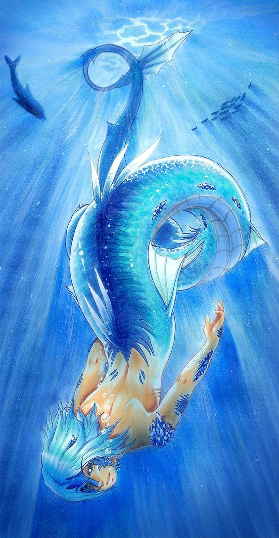 Pin by John on Mermen Anime mermaid, Mermaid art, Anime