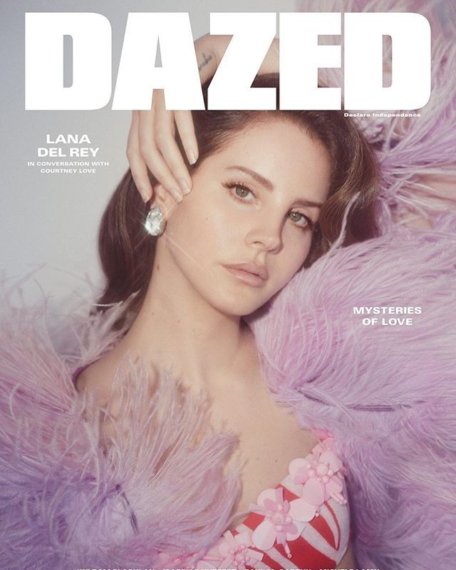 OMGGG LANA ON THE COVER OF DAZED MAGAZINE, SHE LOOKS SO GOOD. SHE JOINS COURTNEY LOVE IN CONVERSATION FOR THE SPRING/SUMMER ISSUE, OUT WORLDWIDE ON APRIL 20TH
