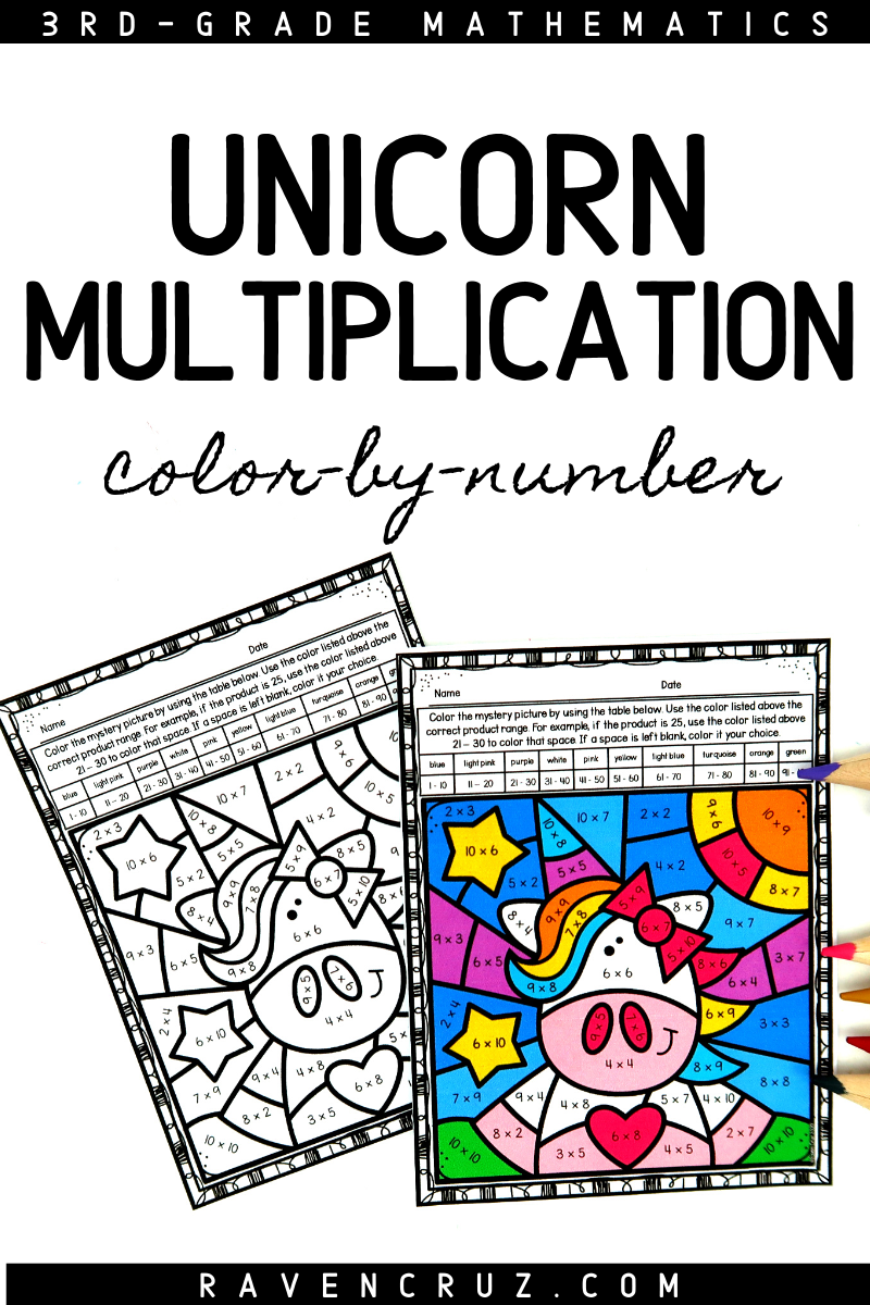 Unicorn Multiplication Color By Number Worksheets Multiplication Elementary Math Centers Homeschool Math [ 1200 x 800 Pixel ]