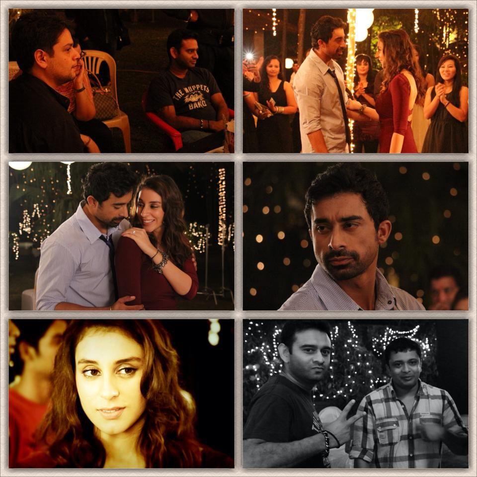"On the sets of ""3 AM"" — with Richard, Anindita Nayar, Richard de Varda, Vishal Mahadkar and Rannvijay Singh."