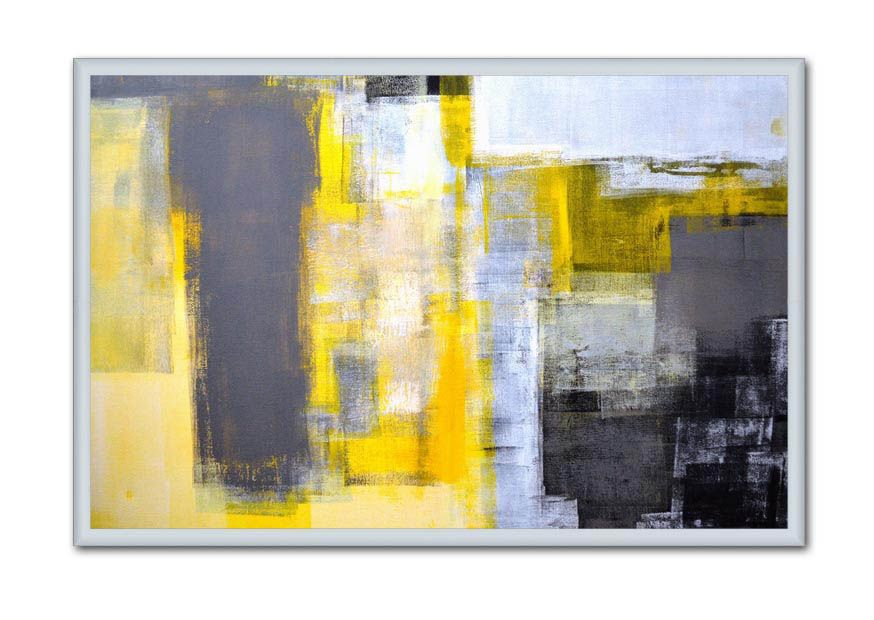 Grey and Yellow Abstract Art from Transform a Wall | Abstratos 2 ...